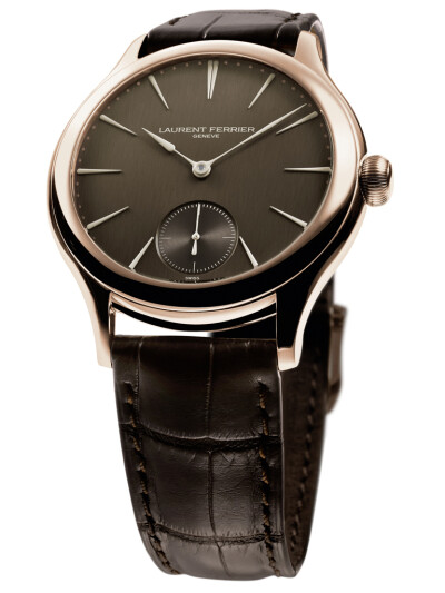 Galet Square Red Gold Case Chocolate Dial