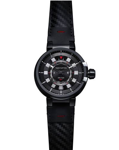 Tambour Evolution Spin Time GMT in Black