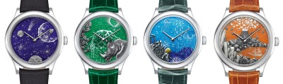 The four watches in the Jules Verne set